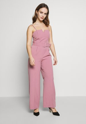 STRUCTURED BELTED - Jumpsuit - pink
