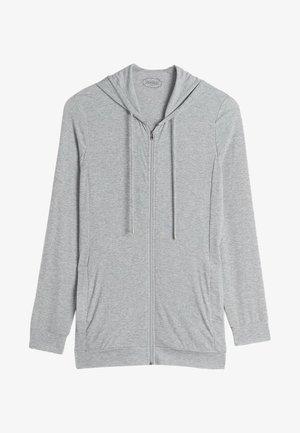 GERIPPTES KAPUZEN-SWEATSHIRT AUS MODALMIX - Pyjama top - silver grey mel