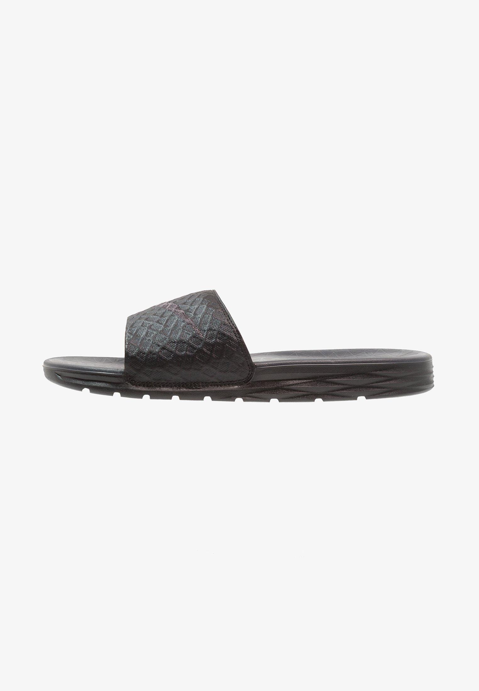 tono Folleto ponerse en cuclillas  Nike Sportswear BENASSI SOLARSOFT - Sandalias planas -  black/anthracite/negro - Zalando.es