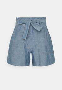 Vero Moda - VMAKELA CHAMBRAY PAPERBAG  - Shorts - medium blue denim - 3