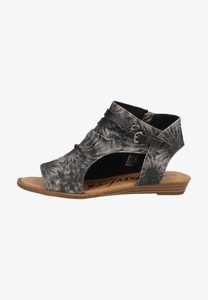 BLOWFISH - Ankle cuff sandals - blacktiedye smokeytwill/dyecut 014