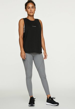 TEXT MODAL DOUBLE T-SHIRT - Top - black