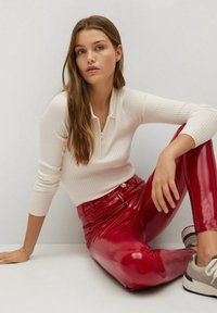 Mango - ESTHER-I - Trousers - rood - 5