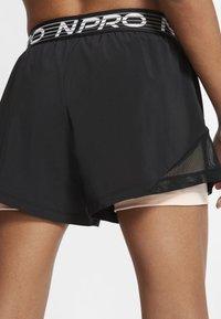 Nike Performance - SHORT  - Sports shorts - black/washed coral/white - 3
