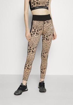 BOCA LEOPARD - Leggings - brown/black