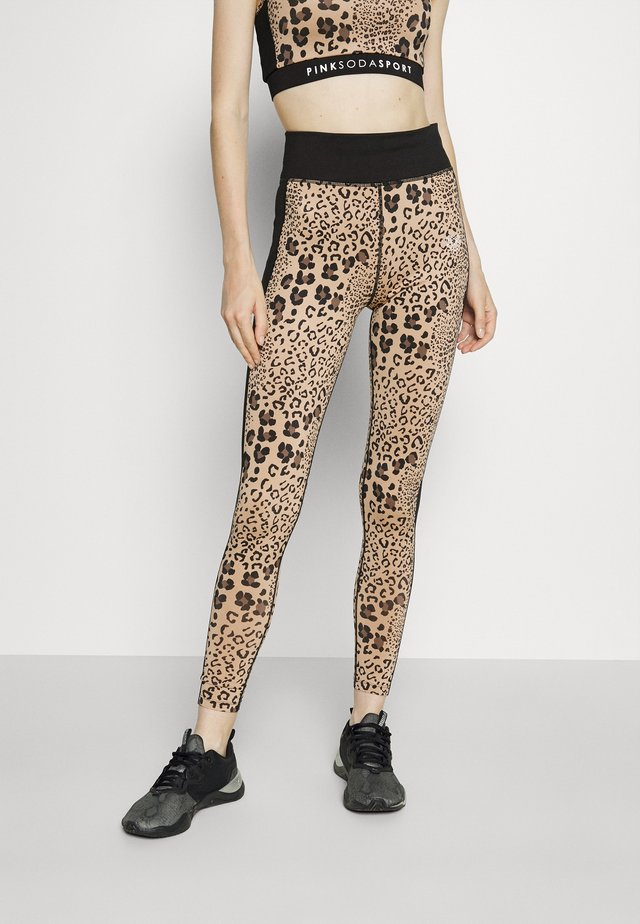 BOCA LEOPARD - Leggings - brown/black