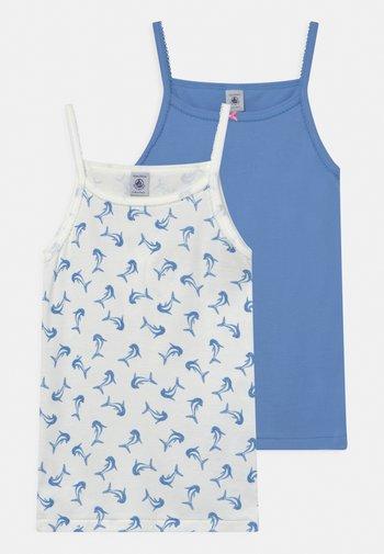 DOLPHIN 2 PACK - Undershirt - blue/white