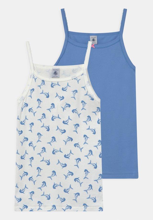 DOLPHIN 2 PACK - Maglietta intima - blue/white