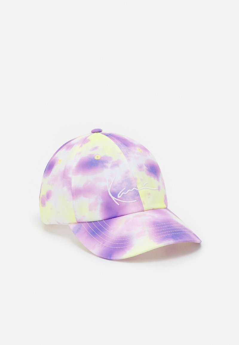 Karl Kani - SIGNATURE TIE DYE - Casquette - lilac/yellow