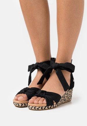 YARROW - Sandály na platformě - black