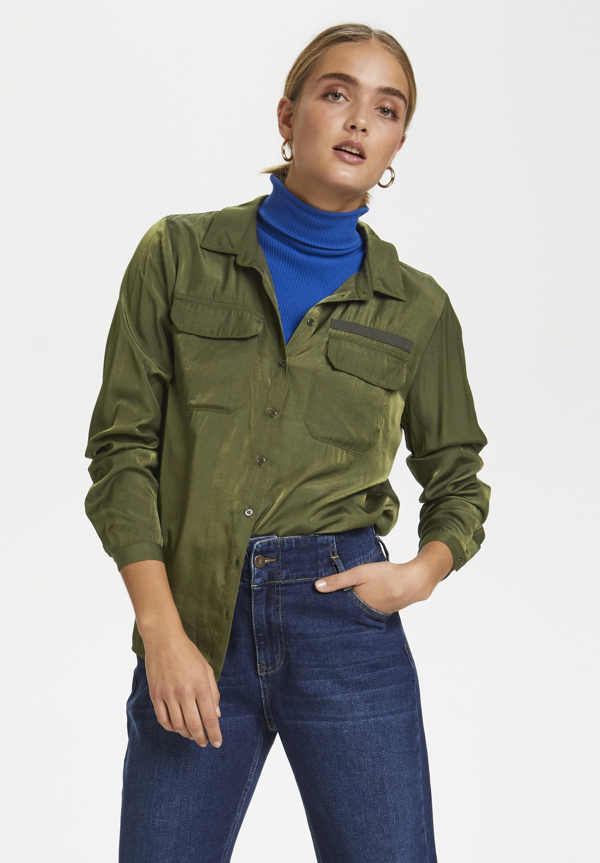 Particular Discount Women's Clothing Denim Hunter Button-down blouse forest night pU544wMIH