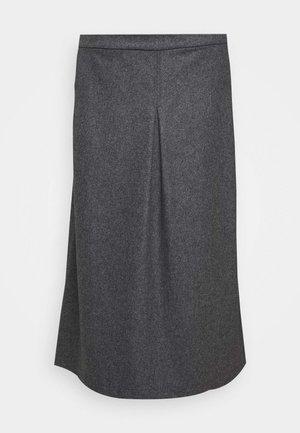 MIDI - A-line skirt - grau