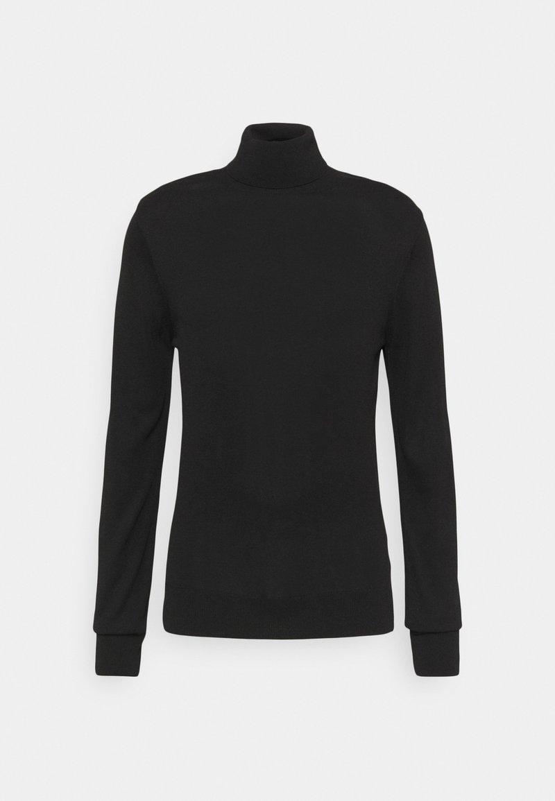 NU-IN - SLIM FIT TURTLE NECK  - Stickad tröja - black