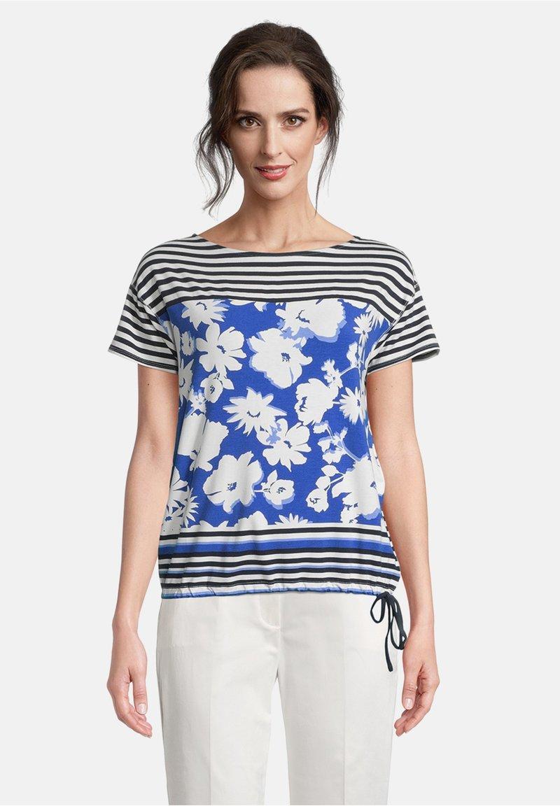 Betty Barclay - TUNNELZUG - Print T-shirt - dunkelblau/weiß