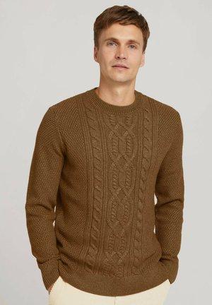 Strickpullover - brown tonal knit mouline