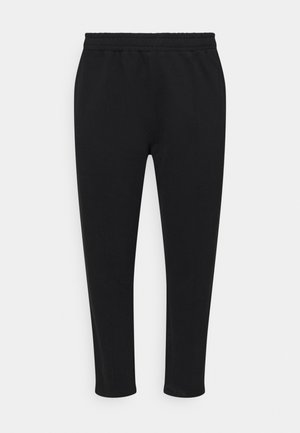 SEAM FRONT TAPERED JOGGERS - Tracksuit bottoms - black