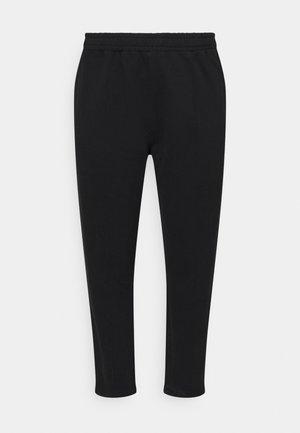SEAM FRONT TAPERED JOGGERS - Pantaloni sportivi - black