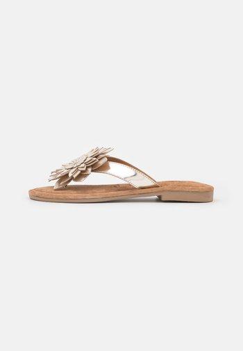 T-bar sandals - light gold