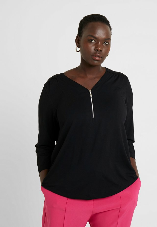 ZIP DETAIL - Long sleeved top - black
