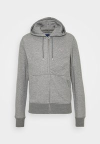 GANT - THE ORIGINAL FULL ZIP HOODIE - Zip-up hoodie - dark grey - 3