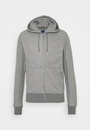 THE ORIGINAL FULL ZIP HOODIE - Huvtröja med dragkedja - dark grey