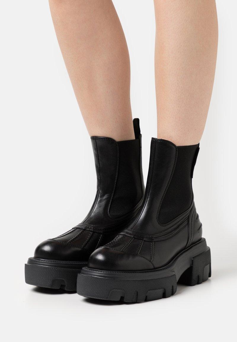 MSGM - BOOT - Platform ankle boots - black