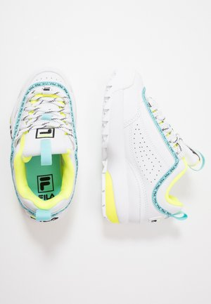 DISRUPTOR LOGO - Trainers - white/black/neon lime