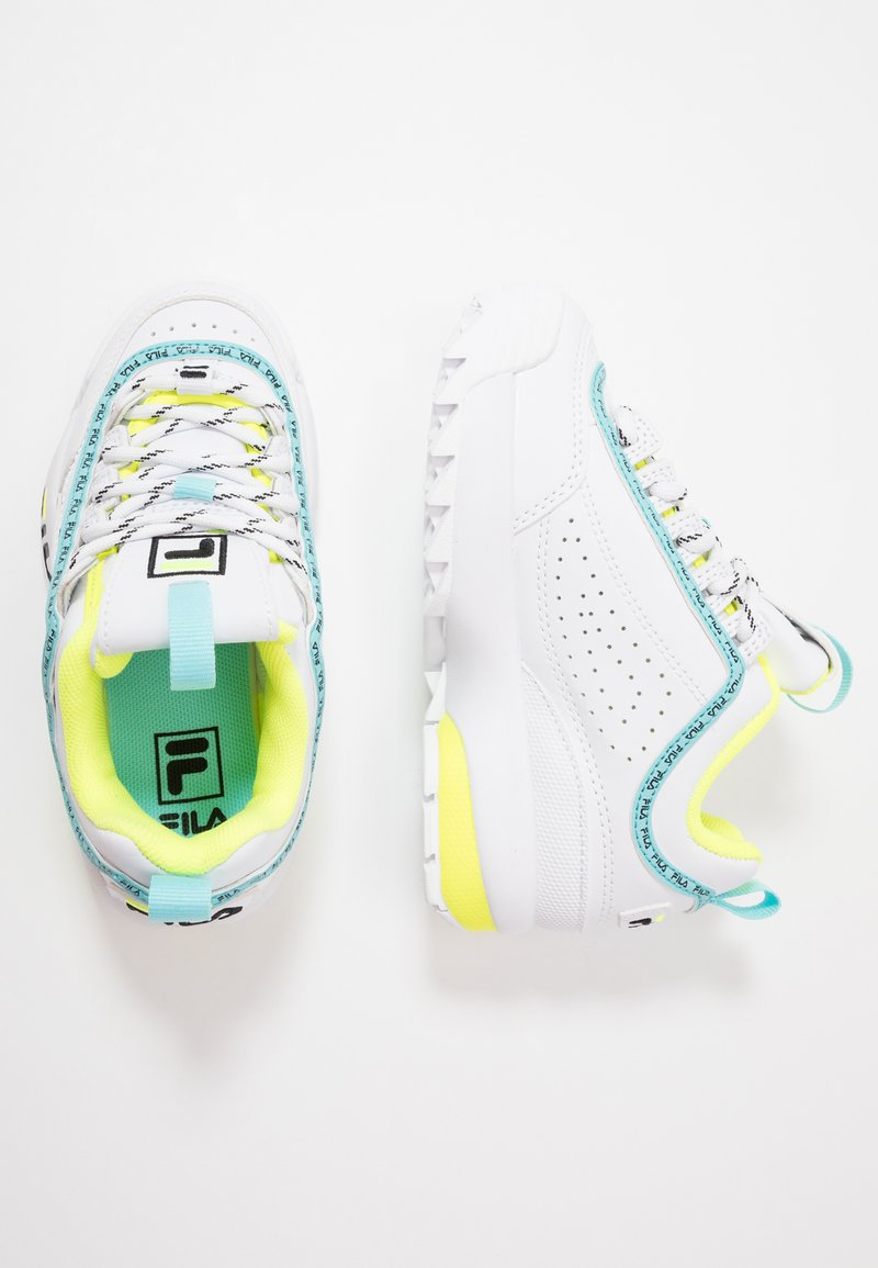 Fila - DISRUPTOR LOGO - Zapatillas - white/black/neon lime