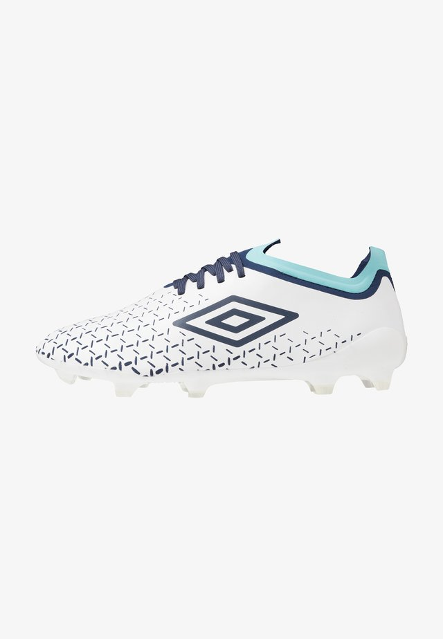 VELOCITA PRO FG - Moulded stud football boots - white/medieval blue/blue radiance