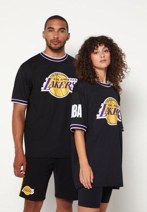 NBA LOS ANGELES LAKERS OVERSIZED APPLIQUE TEE - T-shirt imprimé - black