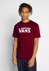Vans - CLASSIC - Print T-shirt - port royale-white - 0