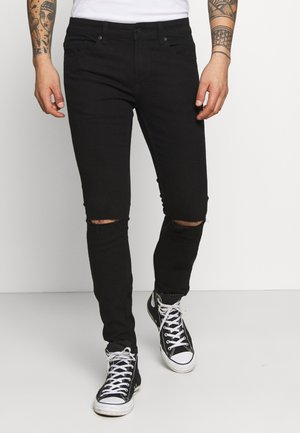 ONSWARP LIFE KNEE CUT - Vaqueros pitillo - black denim