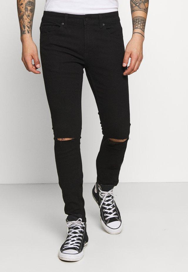 ONSWARP LIFE KNEE CUT - Skinny džíny - black denim