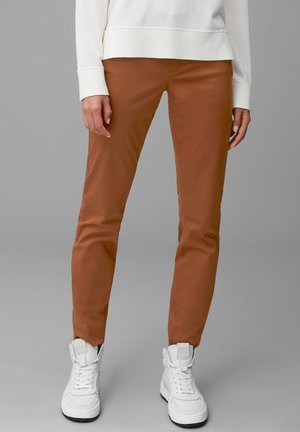ALBY SLIM  - Trousers - chestnut brown