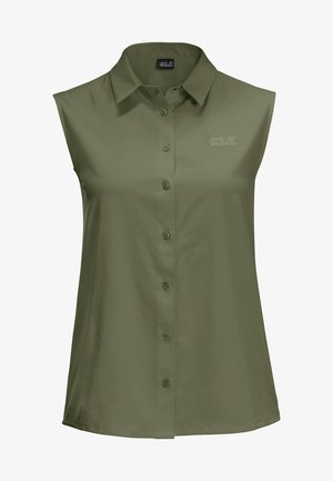 SONORA - Button-down blouse - light moss