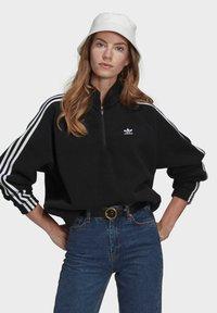 adidas Originals - FLEECE HZ - Sweat polaire - black - 0