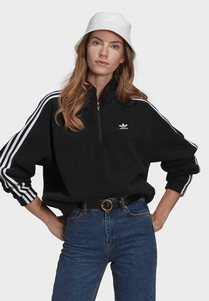adidas Originals - FLEECE HZ - Sweat polaire - black