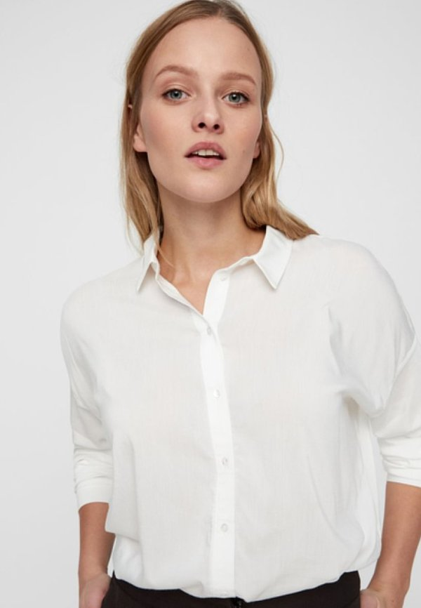 Vero Moda Koszula - snow white/biały VIDR