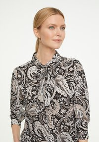 comma - Button-down blouse - black paisley - 3