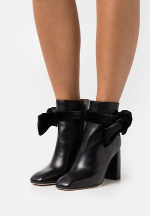 FLORA BOOTIE - High heeled ankle boots - black