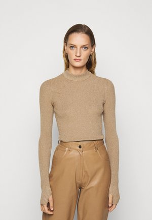 SLOK - Strikkegenser - light pastel brown
