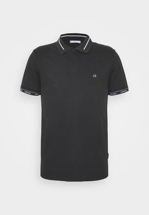 LIQUID TOUCH LOGO CUFF  - Polo shirt - black