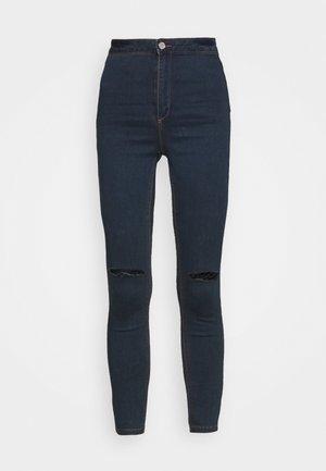 VICE HIGHWAISTED SLASH KNEE - Skinny džíny - indigo