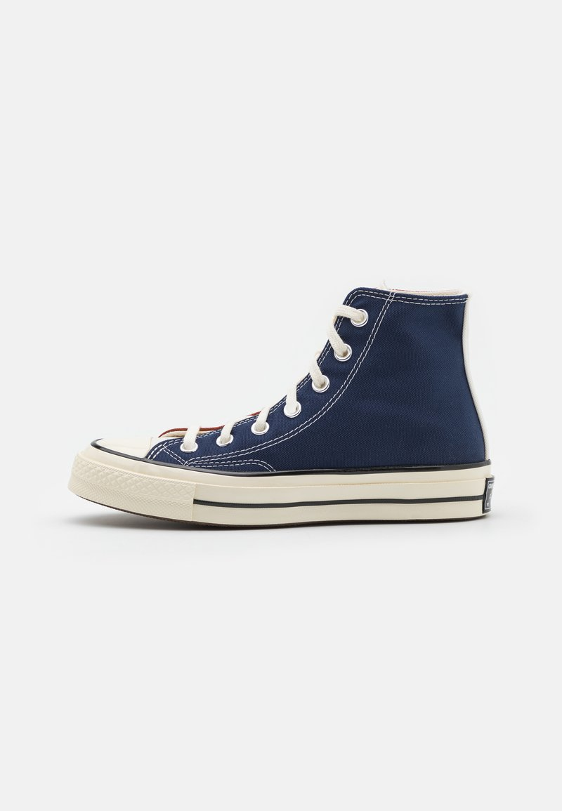 Converse - CHUCK 70 TRI BLOCK UNISEX - Sneakersy wysokie - cedar bark/midnight navy/egret