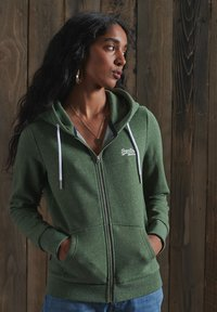 Superdry - ORANGE LABEL - Zip-up hoodie - washed khaki snowy - 0