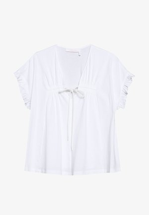 Print T-shirt - white powder