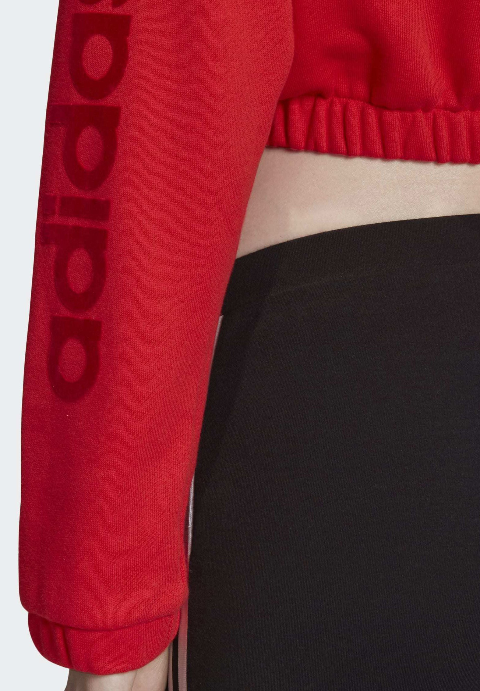 adidas Originals CROPPED HOODIE - Sweat à capuche - red - Pulls & Gilets Femme xzYr9