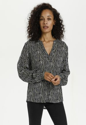KAJUNA - Long sleeved top - grape leaf zebra print