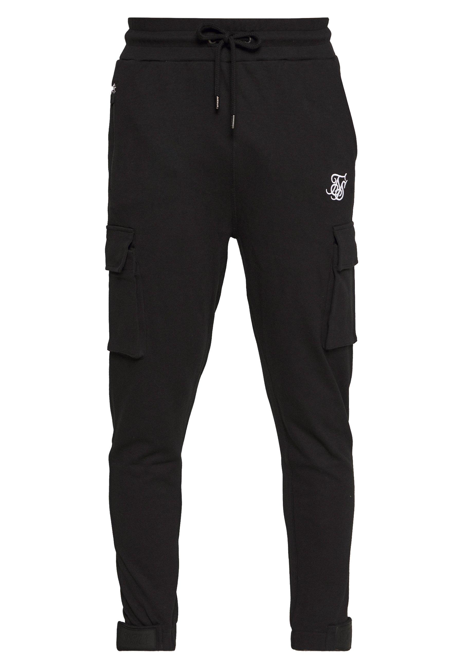 Siksilk Pants - Cargobukse Black/svart