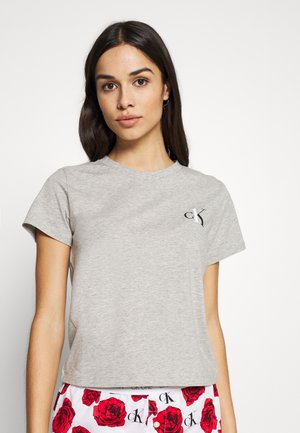 CK ONE LOUNGE CREW NECK - Pyjama top - grey heather